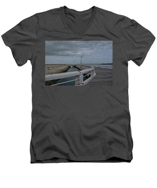 On The Boardwalk Men's V-Neck T-Shirt