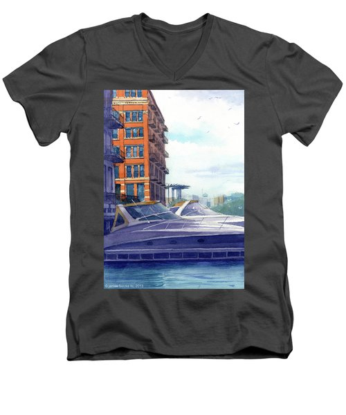 On The Docks Men's V-Neck T-Shirt