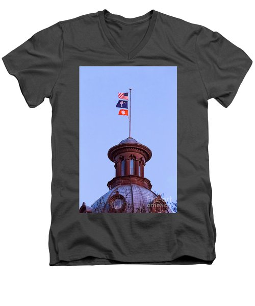 On The Dome-5 Men's V-Neck T-Shirt