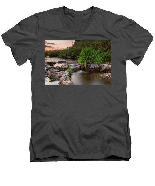 On The Edge Of Time Men's V-Neck T-Shirt