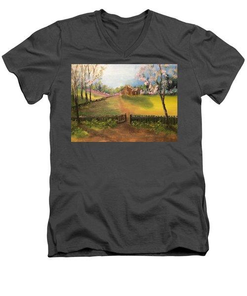 On The Farm Men's V-Neck T-Shirt