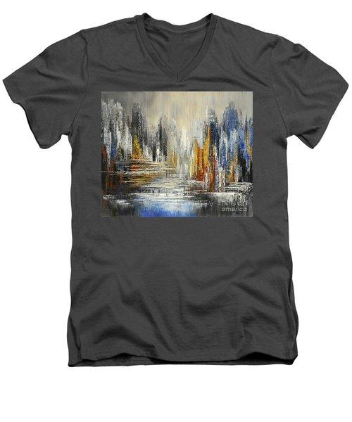 On The Hills Of Dream Men's V-Neck T-Shirt by Tatiana Iliina