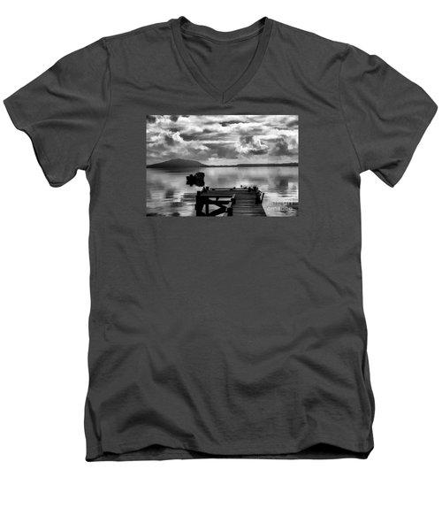 On The Lakes Men's V-Neck T-Shirt by Rick Bragan