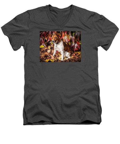 On The Leaves Men's V-Neck T-Shirt