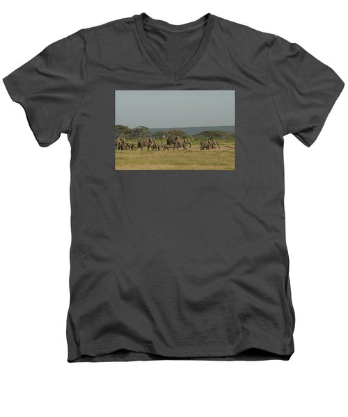Men's V-Neck T-Shirt featuring the photograph On The Move by Gary Hall