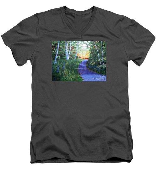 On The Path Men's V-Neck T-Shirt