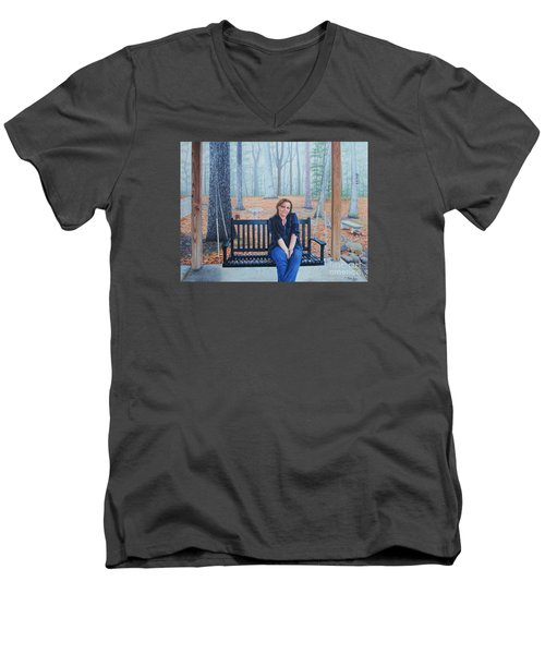 On The Porch Swing Men's V-Neck T-Shirt