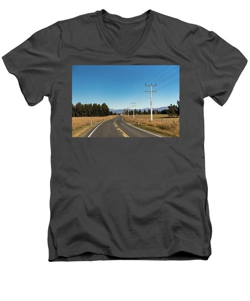 Men's V-Neck T-Shirt featuring the photograph On The Road by Gary Eason
