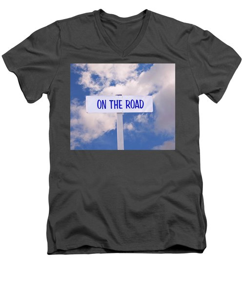On The Road Sign Men's V-Neck T-Shirt