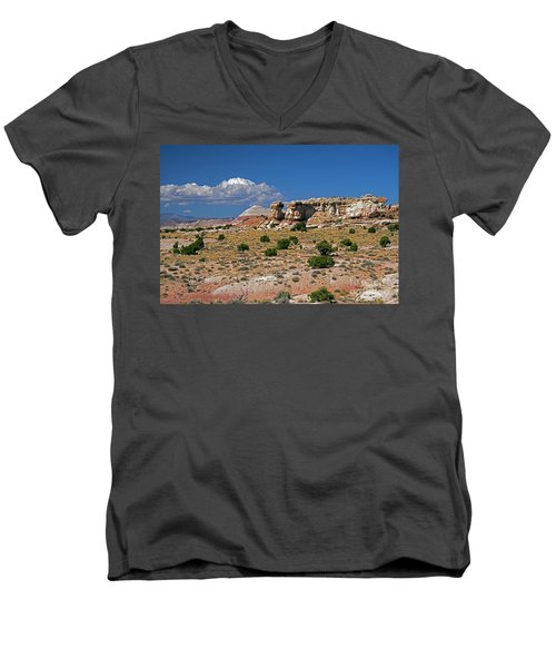 On The Road To Cathedral Valley  Men's V-Neck T-Shirt