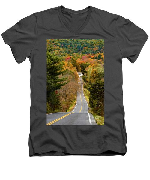 On The Road To New Paltz Men's V-Neck T-Shirt