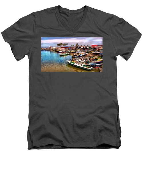 On The Shore Men's V-Neck T-Shirt