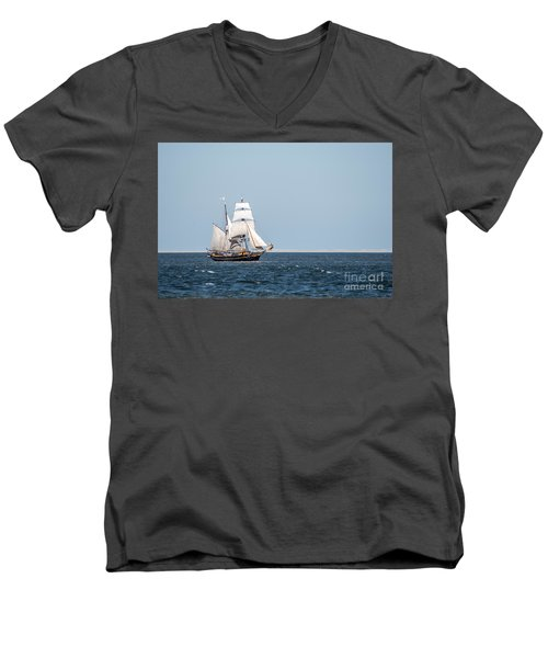 on the way to Texel Men's V-Neck T-Shirt by Hannes Cmarits