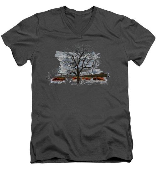 On To Beginnings Men's V-Neck T-Shirt