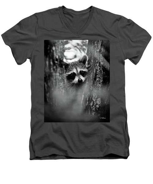 On Watch - Bw Men's V-Neck T-Shirt