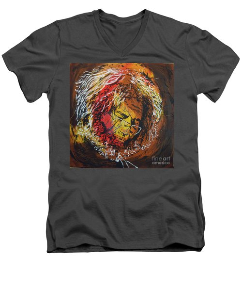 Once A Lion Men's V-Neck T-Shirt