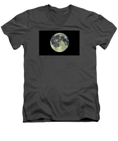 Once In A Blue Moon Men's V-Neck T-Shirt by Candice Trimble