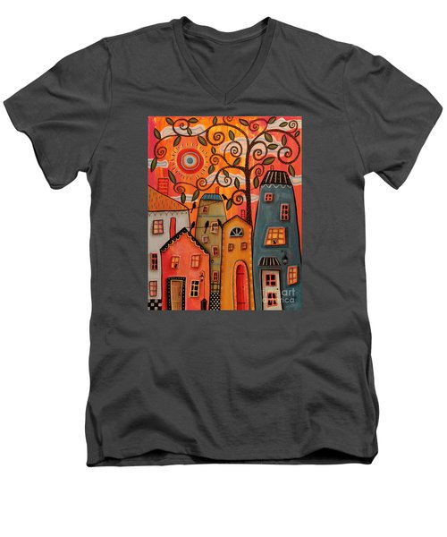 One Afternoon Men's V-Neck T-Shirt by Karla Gerard