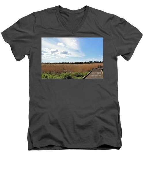Men's V-Neck T-Shirt featuring the photograph One Beautiful Day... by Katy Mei