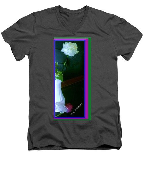 One Carnation And One Rose Bud Men's V-Neck T-Shirt