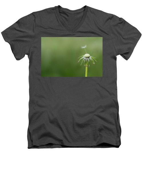 Men's V-Neck T-Shirt featuring the photograph One Dandy by Bess Hamiti