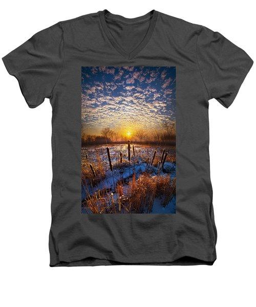 One Day At A Time Men's V-Neck T-Shirt by Phil Koch