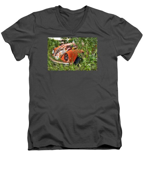 One Eyed Bug Men's V-Neck T-Shirt by Lawrence Burry