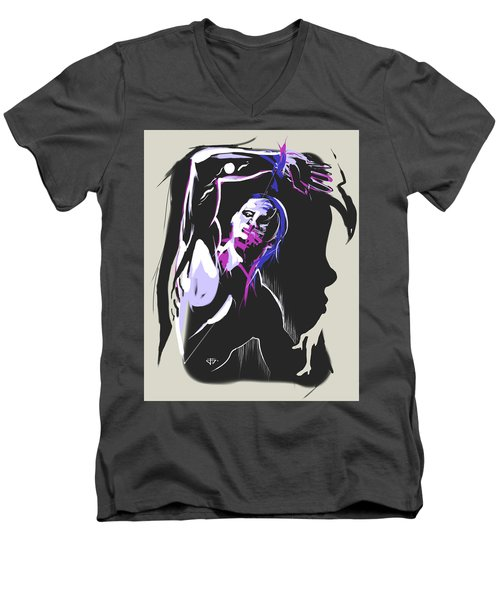 One Kiss Twice Men's V-Neck T-Shirt