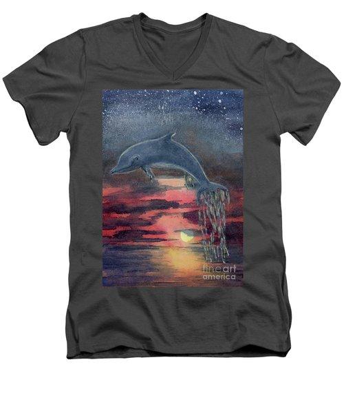 One Last Jump Men's V-Neck T-Shirt