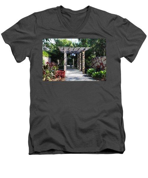 One Long Embrace- Horizontal Men's V-Neck T-Shirt