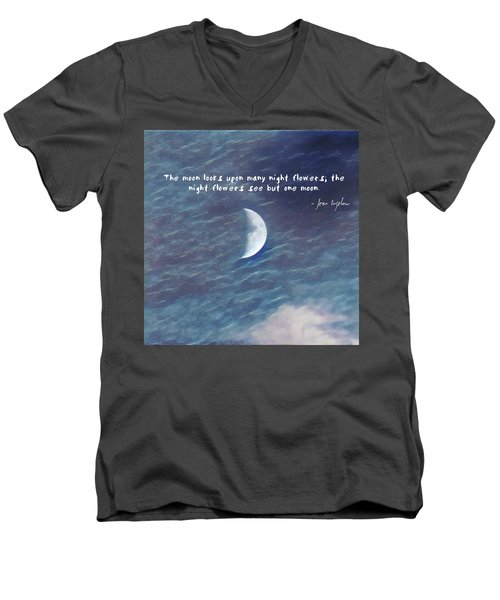 One Moon Men's V-Neck T-Shirt