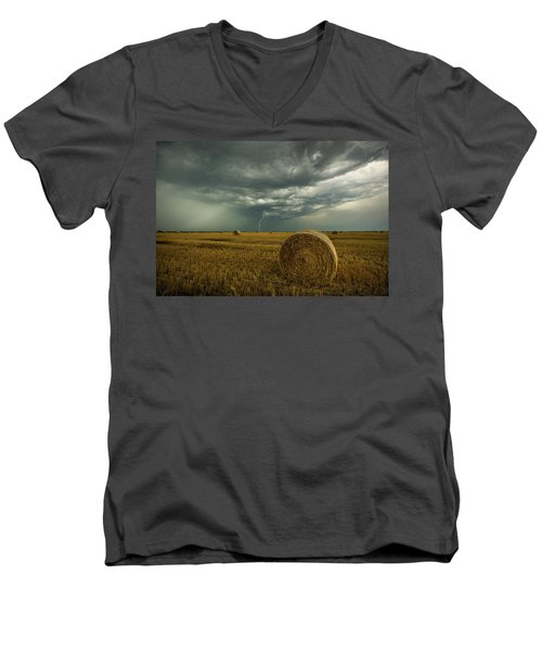 Men's V-Neck T-Shirt featuring the photograph One More Time A Round by Aaron J Groen