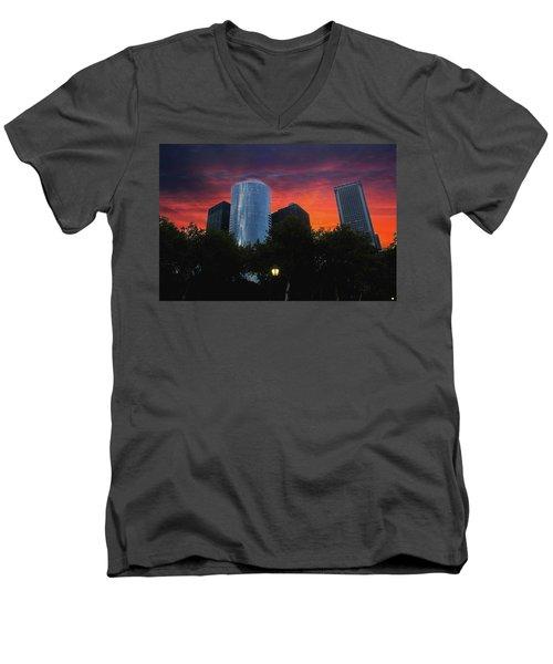 One New York Center-1 Men's V-Neck T-Shirt