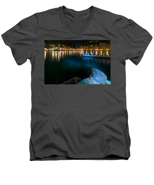 One Night In Portofino - Una Notte A Portofino Men's V-Neck T-Shirt
