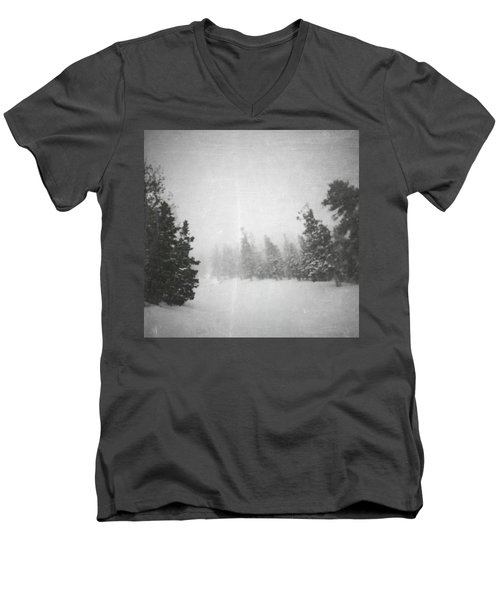 Men's V-Neck T-Shirt featuring the photograph One Night  by Mark Ross