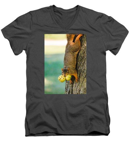 One Nut Is Never Enough Men's V-Neck T-Shirt