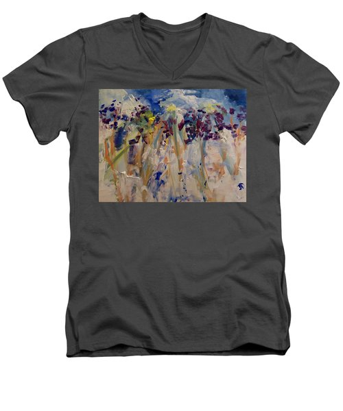 One Of A Kind Men's V-Neck T-Shirt by Judith Desrosiers