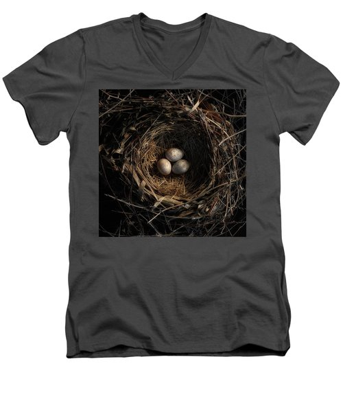 One Of The Most Private Things In The World Is An Egg Until It Is Broken Mfk Fisher Men's V-Neck T-Shirt by Mark Fuller