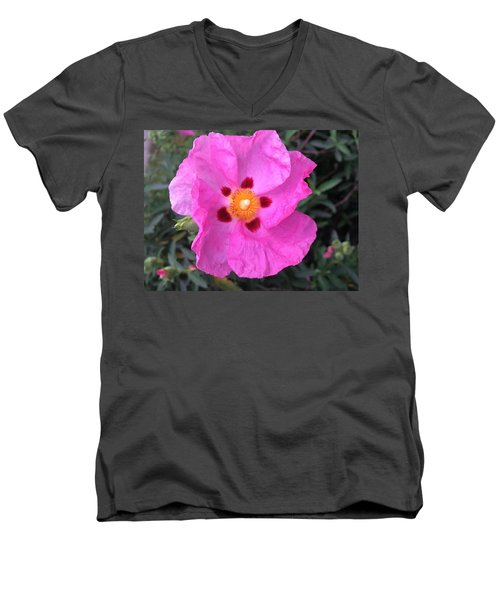 One Perfect Pink Men's V-Neck T-Shirt