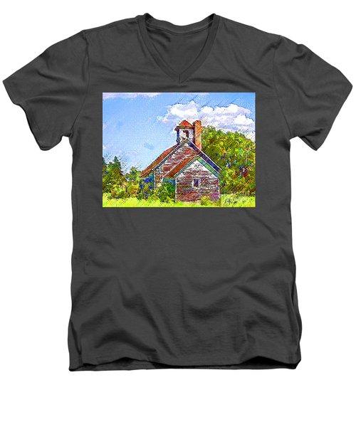One Room Schoolhouse Men's V-Neck T-Shirt
