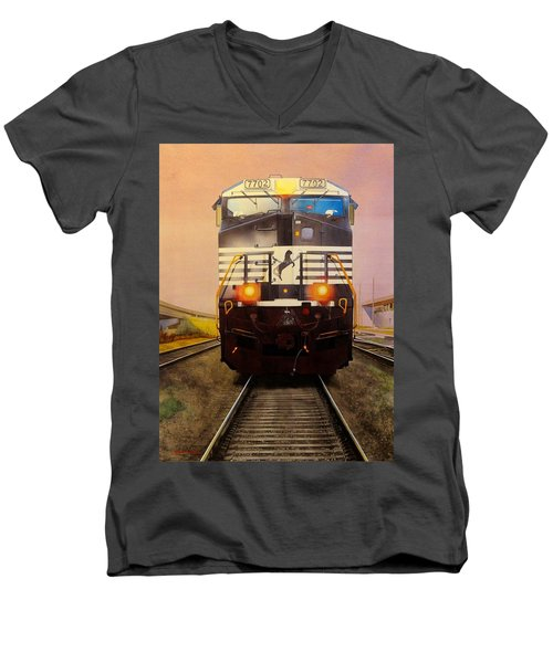 One Track Mind Men's V-Neck T-Shirt
