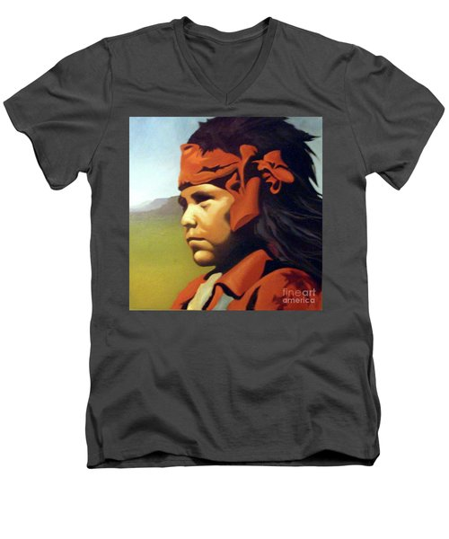 One Who Soars With The Hawk Men's V-Neck T-Shirt