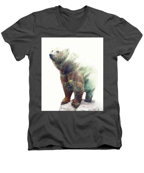 One With Nature V2 Men's V-Neck T-Shirt