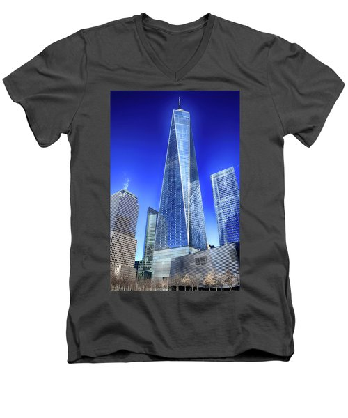 Standing Tall Men's V-Neck T-Shirt by Dyle Warren