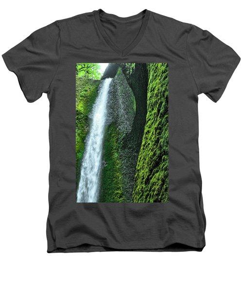Oneonta Falls  Men's V-Neck T-Shirt