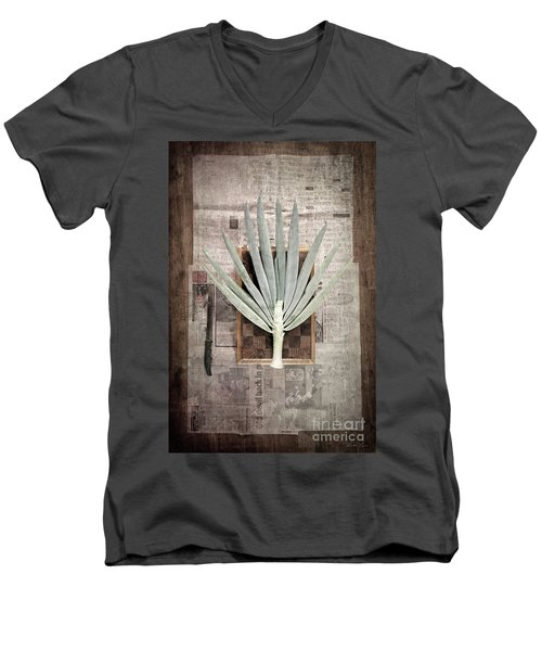 Men's V-Neck T-Shirt featuring the photograph Onion by Linda Lees