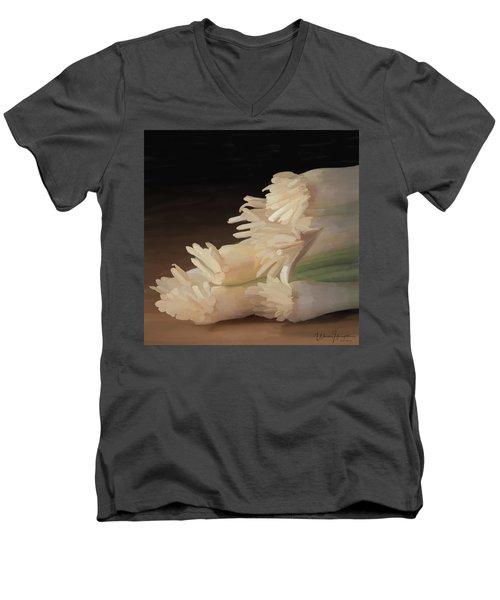 Onions 01 Men's V-Neck T-Shirt by Wally Hampton
