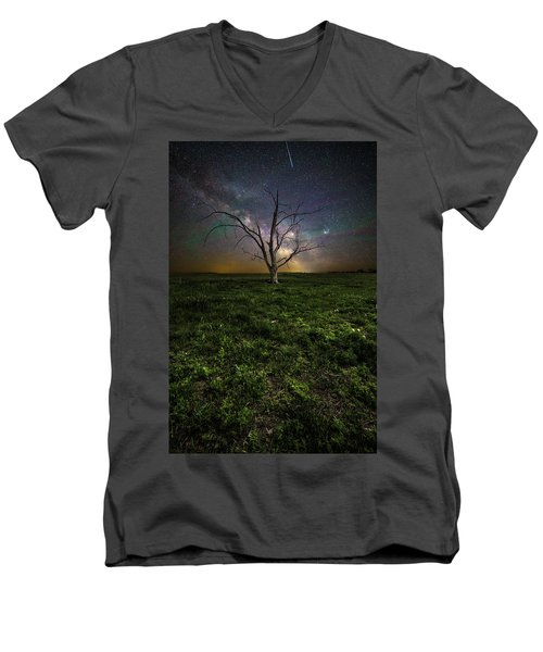 Men's V-Neck T-Shirt featuring the photograph Only by Aaron J Groen