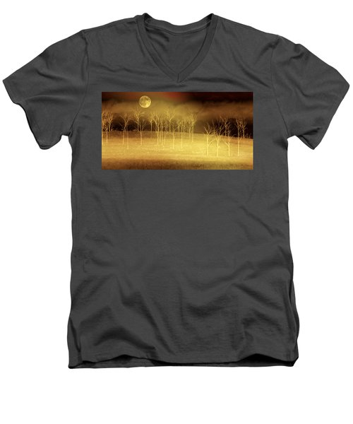Only At Night Men's V-Neck T-Shirt by Holly Kempe
