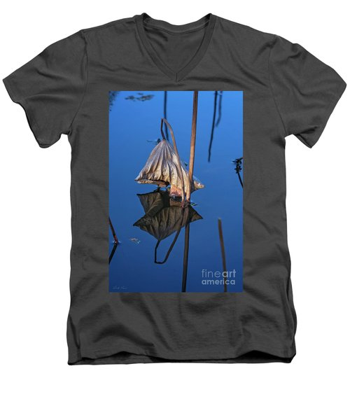 Men's V-Neck T-Shirt featuring the photograph Only In Still Water by Linda Lees